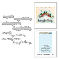 Spellbinders Stamp & Die Set By Tammy Tutterow - Sentiments I
