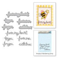 Spellbinders Stamp & Die Set By Tammy Tutterow - Sentiments II
