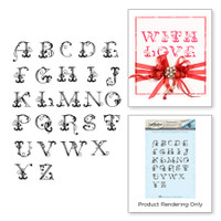 Spellbinders Stamps By Stacey Caron - French Alphabet