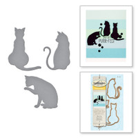 Spellbinders Die D-Lites - Kitty Cats