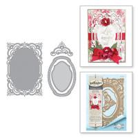 Spellbinders Shapeabilities Chantilly Paper Lace By Becca Feeken - Annabelle's Trousseau Layering Frame Medium