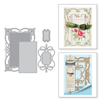 Spellbinders Shapeabilities Chantilly Paper Lace By Becca Feeken - Coralene's Chemise Layering Frame Large