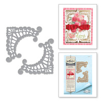 Spellbinders Shapeabilities Chantilly Paper Lace By Becca Feeken - Eliza Lace Corners
