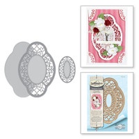 Spellbinders Shapeabilities Chantilly Paper Lace By Becca Feeken - Hannah Elise Layering Frame Small