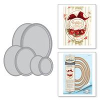 Spellbinders Shapeabilities Chantilly Paper Lace By Becca Feeken - Hemstitch Ovals