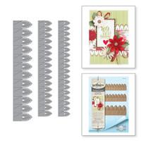 Spellbinders Shapeabilities Chantilly Paper Lace By Becca Feeken - Lilly Pearl Flat Fold Flower/Border