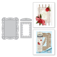 Spellbinders Shapeabilities Chantilly Paper Lace By Becca Feeken - Tallulah Frill Layering Frame Small