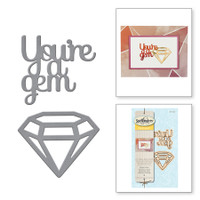 Spellbinders Die D-Lites Etched Dies - You're a Gem