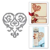 Spellbinders Die D-Lites Etched Dies Rebel Rose by Stacey Caron - Untamed Heart