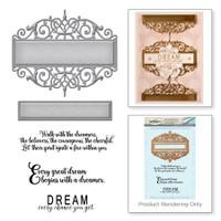 Spellbinders Stamp and Die Set Amazing Paper Grace Vintage Elegance By Becca Feeken - Beautiful Dreamer