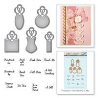 Spellbinders Stamp and Die Set Amazing Paper Grace Vintage Elegance By Becca Feeken - Graceful Tiny Tag