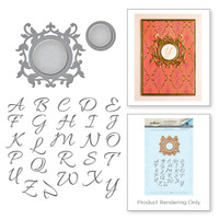 Spellbinders Stamp and Die Set Rouge Royale Deux Collection By Stacey Caron - Royale Monogram Set