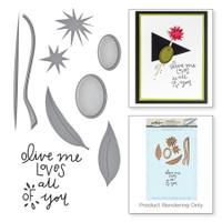 Spellbinders Stamp and Die Set Market Fresh By Debi Adams - Olive Me