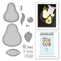 Spellbinders Stamp and Die Set Market Fresh By Debi Adams - The Pearfect Avocado