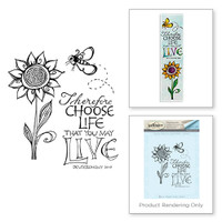 Spellbinders Stamps Bible Journaling By Joanne Fink - Choose Life