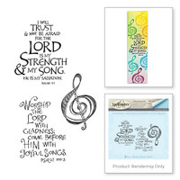 Spellbinders Stamps Bible Journaling By Joanne Fink - Lord is My Strength