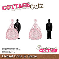 CottageCutz Dies - Elegant Bride & Groom