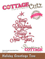 CottageCutz Elites Dies - Holiday Greeting Tree