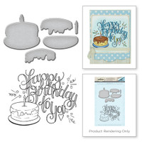 Spellbinders Stamp & Die Set By Tammy Tutterow - Happy Bday Cake