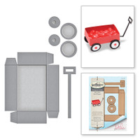 Spellbinders Shapeabilities By Debi Adams - Little Red Wagon