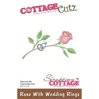 CottageCutz Dies - Rose With Wedding Rings