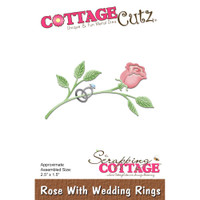 CottageCutz Dies - Rose With Wedding Rings