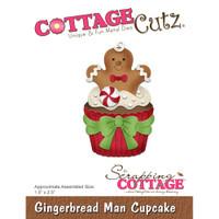 CottageCutz Dies - Gingerbread Man Cupcake