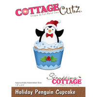 CottageCutz Dies - Holiday Penguin Cupcake