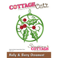 CottageCutz Dies - Holly & Berry Ornament