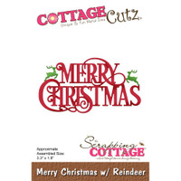 CottageCutz Dies - Merry Christmas With Reindeer
