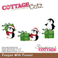 CottageCutz Dies - Penguin With Present