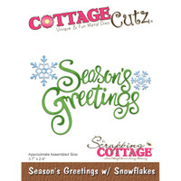 CottageCutz Dies - Season's Greetings With Snowflakes