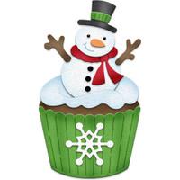 CottageCutz Dies - Snowman Cupcake