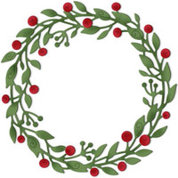 CottageCutz Dies - Vine Wreath With Berries