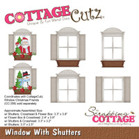 CottageCutz Dies - Window With Shutters