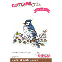CottageCutz Stamp & Die Set - Bluejay & Apple Blossom