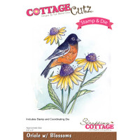 CottageCutz Stamp & Die Set - Oriole With Blossoms