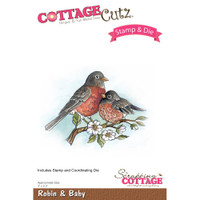 CottageCutz Stamp & Die Set - Robin & Baby