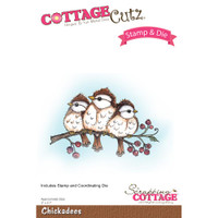 CottageCutz Stamp & Die Set - Chickadees