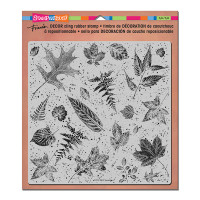 Stampendous Décor Background Cling Stamps - Décor Leaves