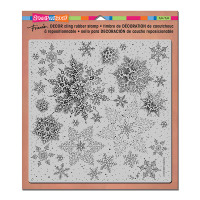 Stampendous Décor Background Cling Stamps - Décor Snowflake