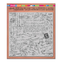 Stampendous Décor Background Cling Stamps - Décor Script