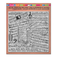 Stampendous Décor Background Cling Stamps - Décor Music