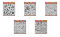 Stampendous Décor Background 5 Cling Stamps - 'I Want It All' Bundle