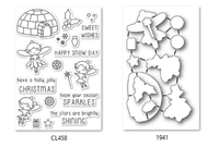 Memory Box Poppystamps Clear Stamps and Dies Set - Wintertime Fairies