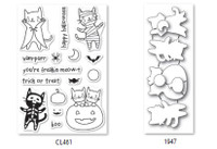 Memory Box Poppystamps Clear Stamps and Dies Set - Halloween Costume Cats