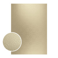 Couture Creations Mirror Board 10/pk - Matte Gold Damask