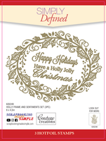 Simply Defined HotFoil Stamps - Holly Frame and Sentiments Set