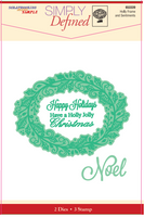 Simply Defined Dies and Stamps Set - Winter's Wonder, Holly Frame and Sentiments