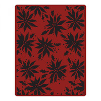 Sizzix Texture Fades Embossing Folder by Tim Holtz - Poinsettias